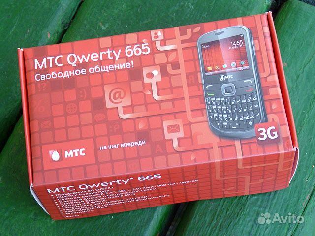 Объявление Телефон МТС Qwerty 665 (на гарантии) (4 фотографии).