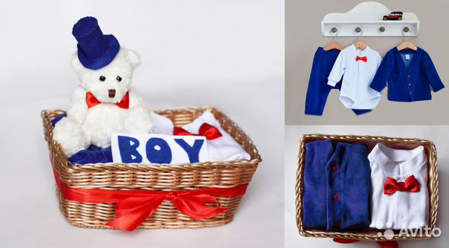 Упаковка подарков для новорожденных 46