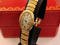 Cartier Baignoire Yellow Gold with gold bracelet