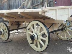 Конная и двухколёсная деревянная телега (уф алла а
