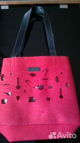 14ca9e8cf174 Легкая итальянская сумка из фетра Itaita купить в Москве на Avito ...