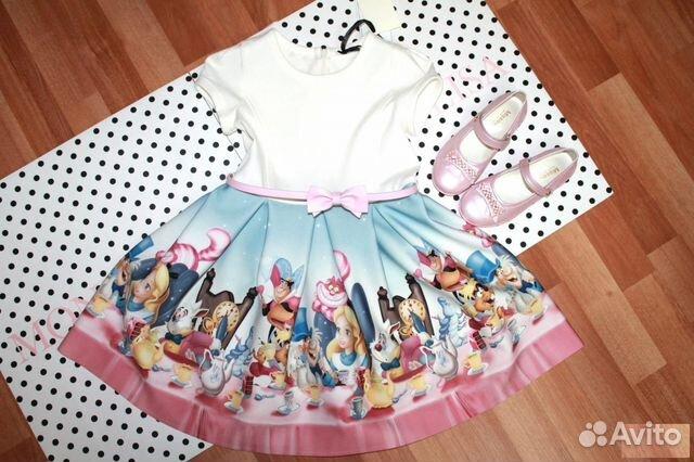946ae528546 Monnalisa платье для девочки 8-9 лет