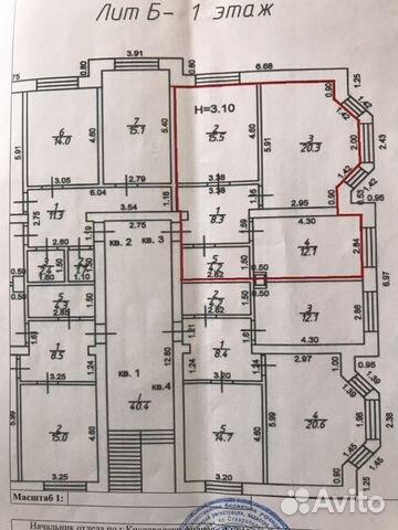 2-room apartment, 60.4 m2, 1/5 floor buy 4