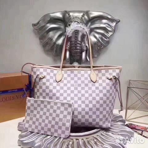a5f677d3e9b9 Louis Vuitton Neverfull Сумка Azur Белая LV Луи | Festima.Ru ...
