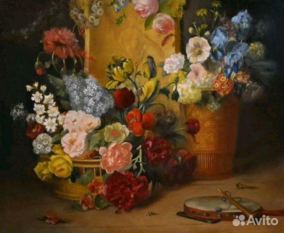 0b699147555e Цветочный натюрморт, копия купить в Москве на Avito — Объявления на ...