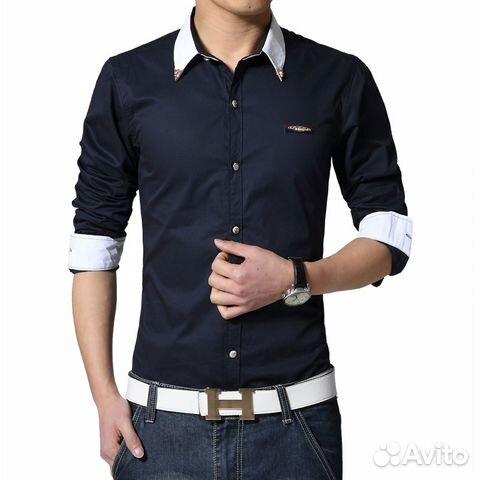 77769143d6d Мужская рубашка с длинным рукавом