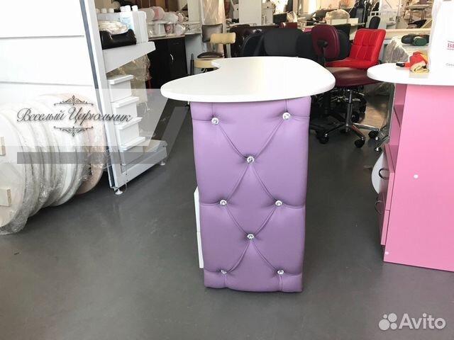 Складной маникюрный стол с каретной стяжкой