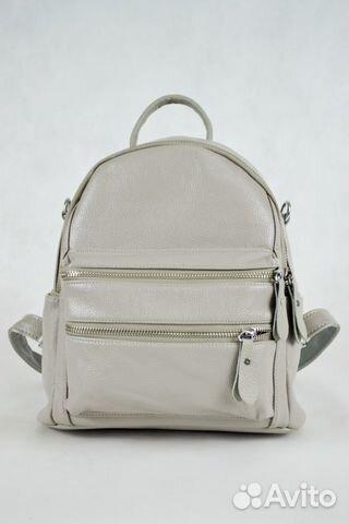 25aa78937b47 Рюкзак серый кожаный женский 2297 | Festima.Ru - Мониторинг объявлений
