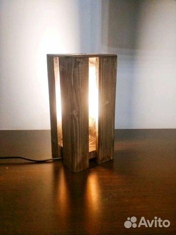 ночник из дерева в стиле Loft купить в воронежской области