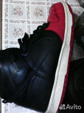 193b5dbb Высокие кроссовки Nike ориг. Черно-красные   Festima.Ru - Мониторинг ...