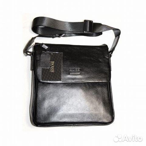 e2dae5101862 Мужская кожаная сумка H Boss black lux планшет купить в Москве на ...