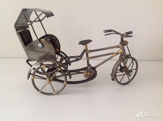Модель велорикши, рикша металл купить 3