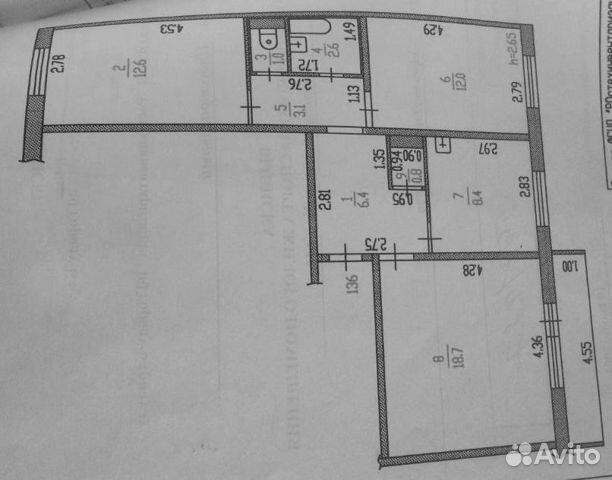 Продается трехкомнатная квартира за 3 199 000 рублей. г Барнаул, Павловский тракт, д 229.