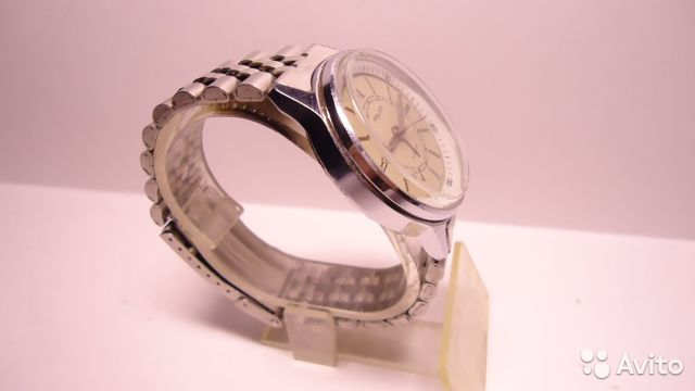 Часы полет с будильником механика браслет СССР купить 4