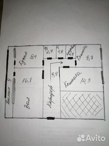 3-к квартира, 64 м², 2/2 эт.