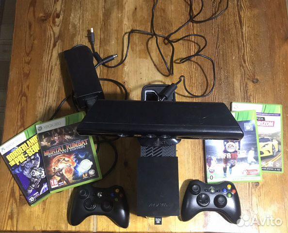 Игровая приставка Xbox 360 и Kinect + 500GB  89674255053 купить 1