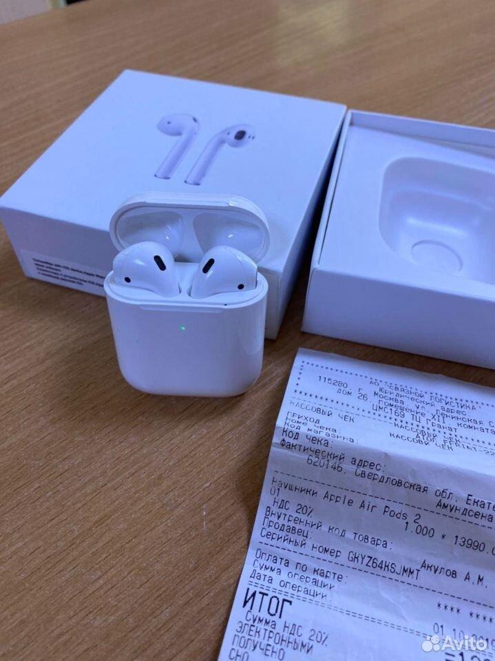 Беспроводные наушники Apple AirPods 2 Original (64  89080093671 купить 2