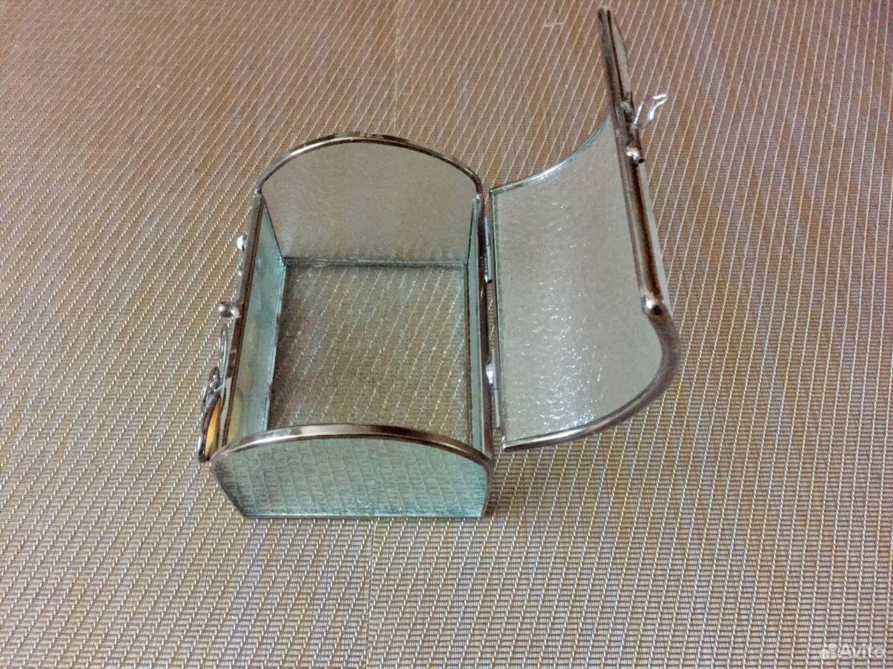 Шкатулка стекло+сталь+перламутр  89069076084 купить 6