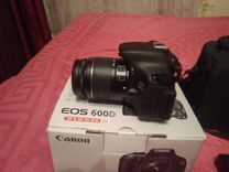 Зеркальный фотоаппарат canon eos 600d ef-s kit 18