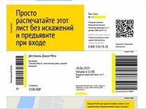 Два электронных билета на фестиваль Дикая мята
