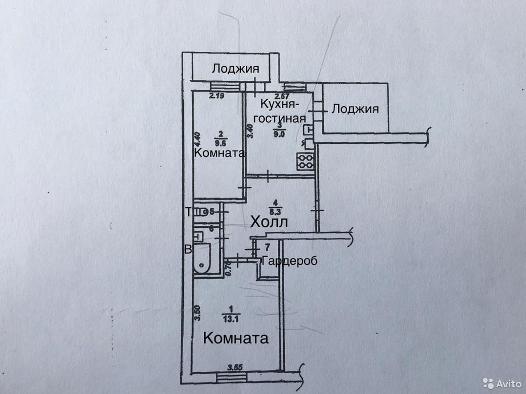 2-к квартира, 51 м², 2/2 эт.  89587923408 купить 10