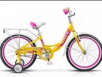 Детский велосипед стелс stels желтый