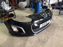 Бампер передний Пежо 308 рейстал черный