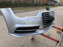 Передний бампер Audi A7 s line рестайлинг в сборе