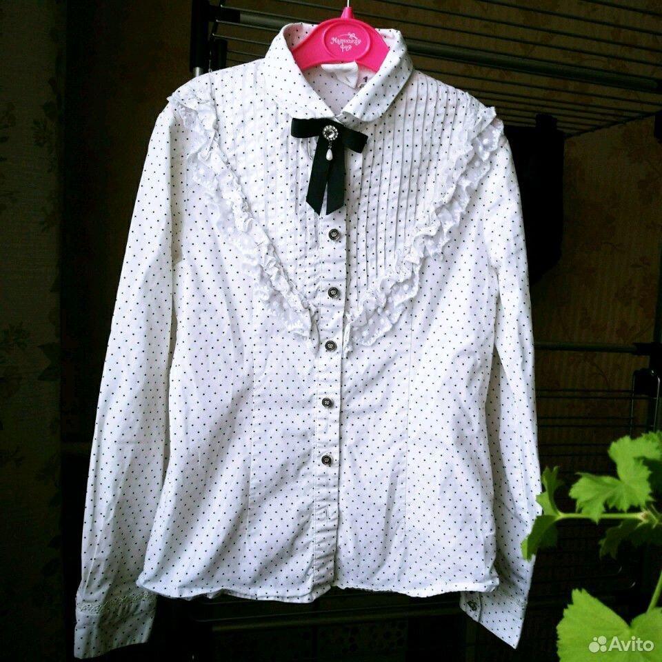 Блузка в горошек 146