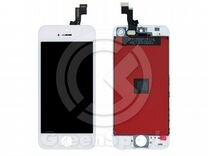 Дисплей для iPhone 5S/SE +тач белый с рамкой AAA