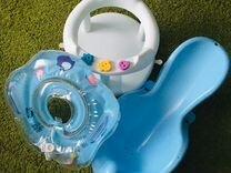 Горка для купания, стульчик для купания, круг для