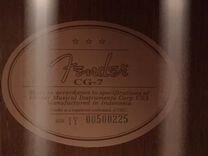 Классическая гитара fender CG7 без кейса