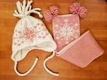 Зимний Комплект/ шапка, шарф Scandica 1-1,5 года